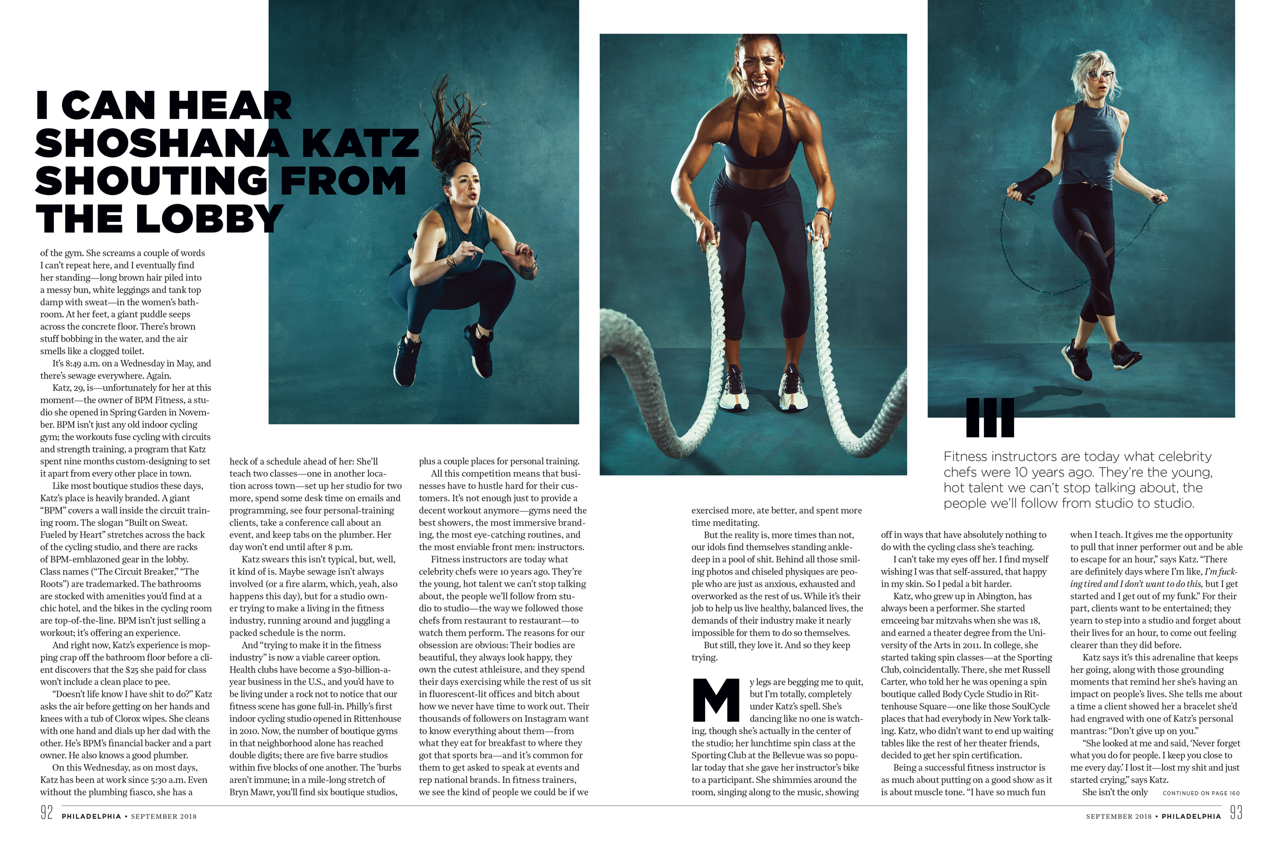 Philadelphia Magazine - September 2018 Fitness Photography Philadelphia Fitness