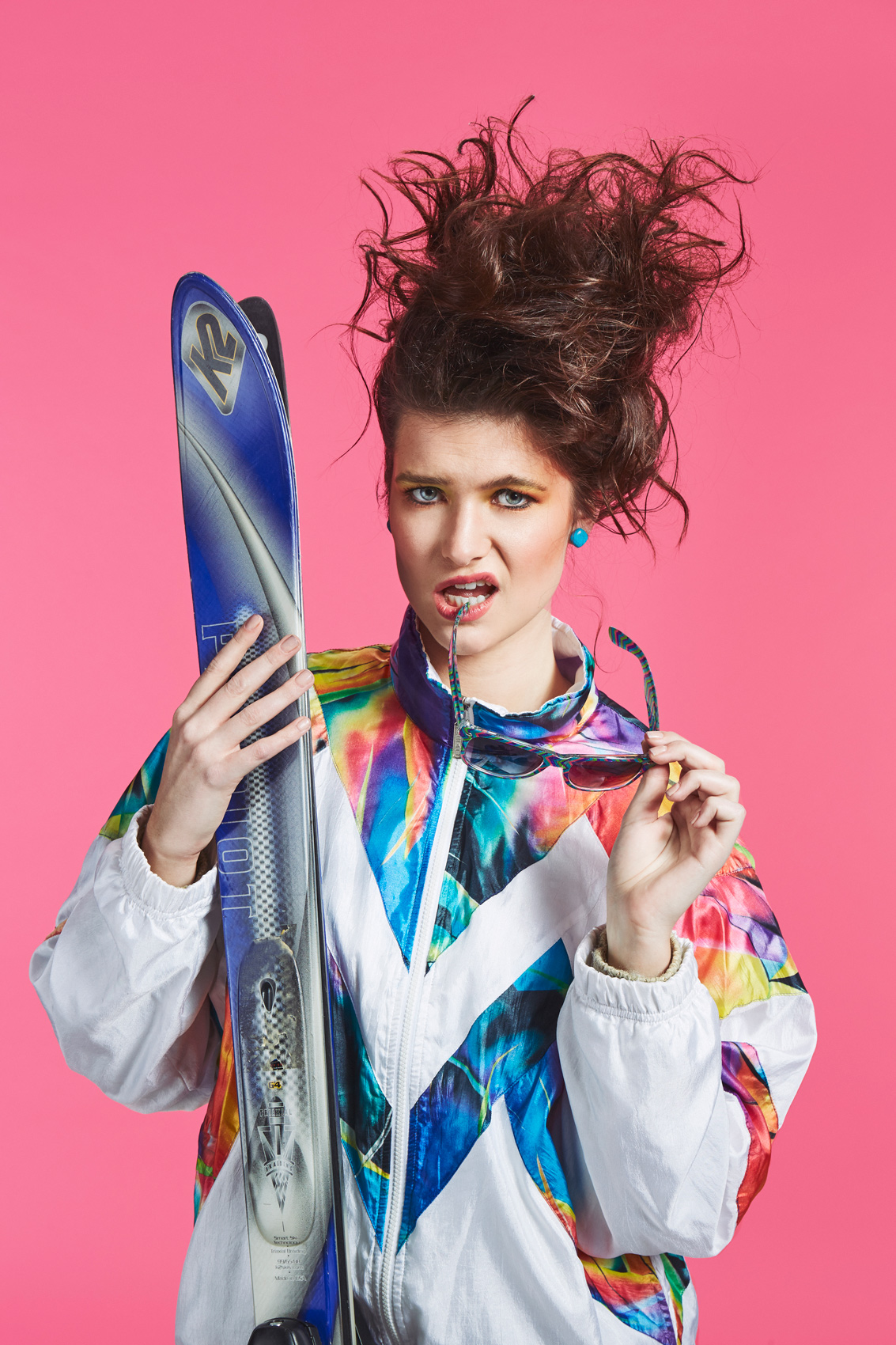 80s Portrait - Better Off Dead Female Skier
