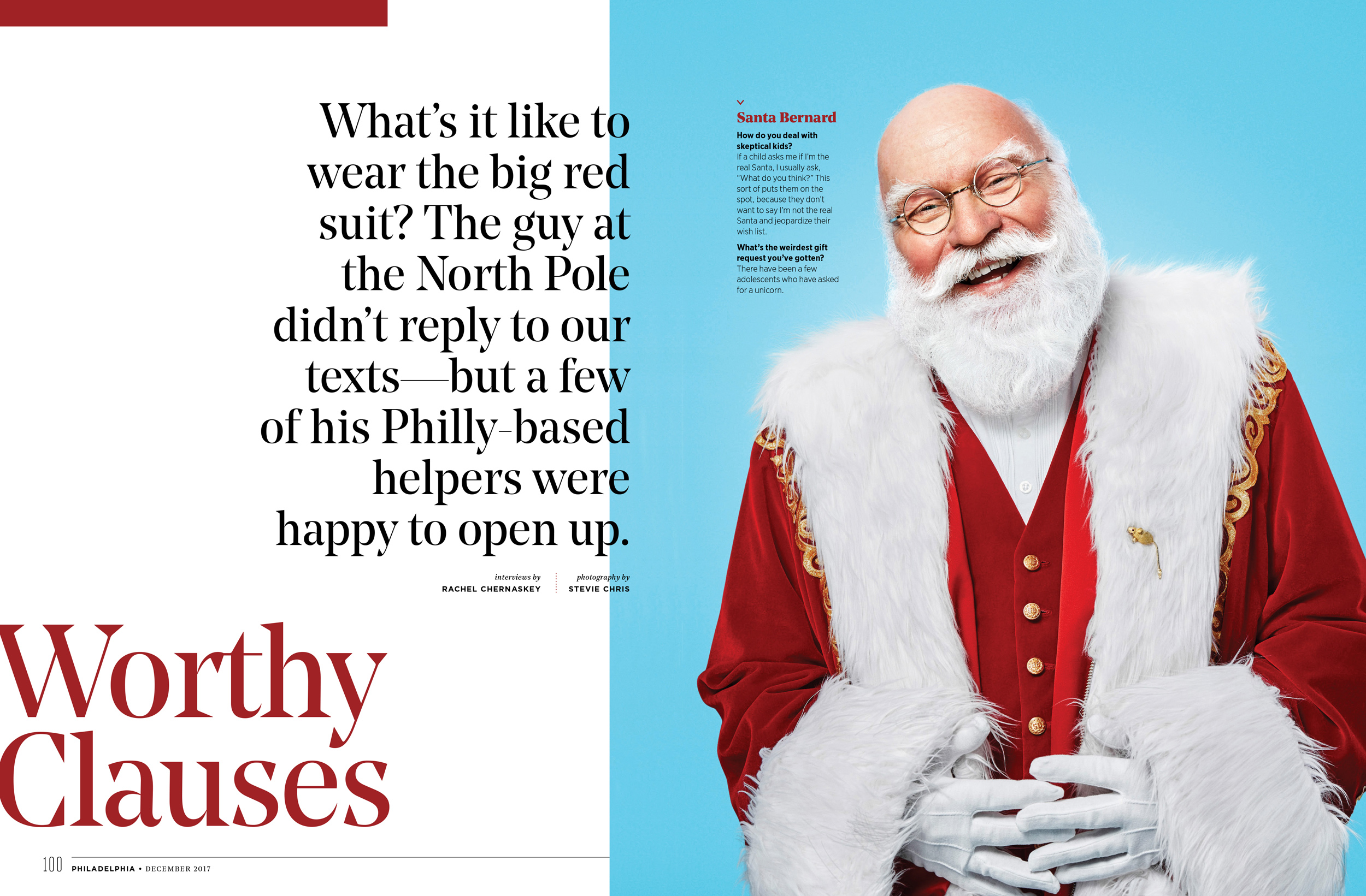 Philly Mag Santa Claus Editorial