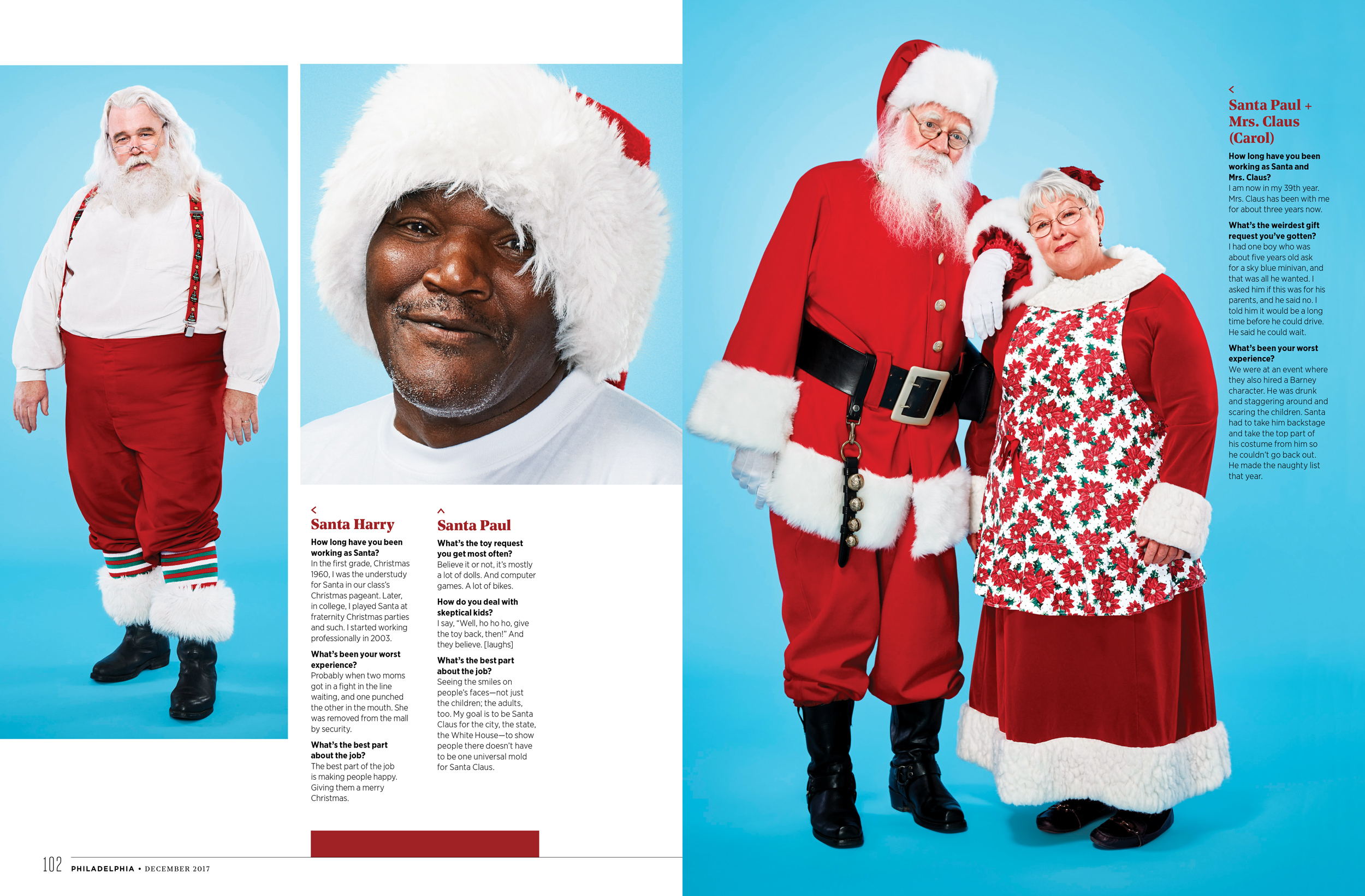 Philly Mag Editorial Santa Feature