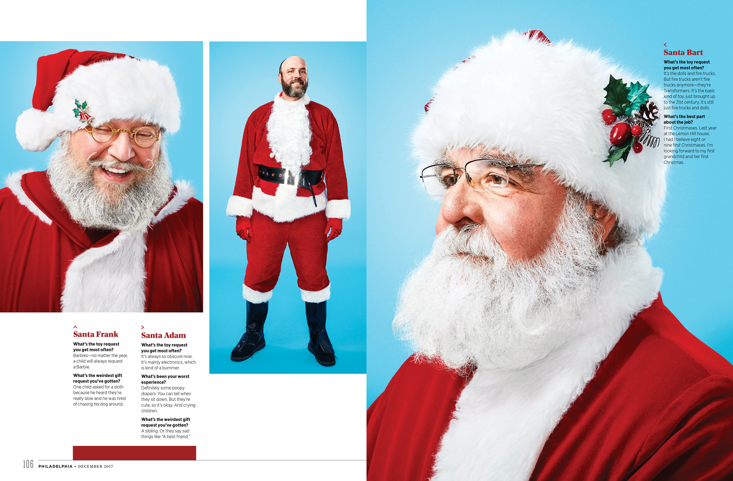 Philadelphia Magazine Editorial Santa Feature