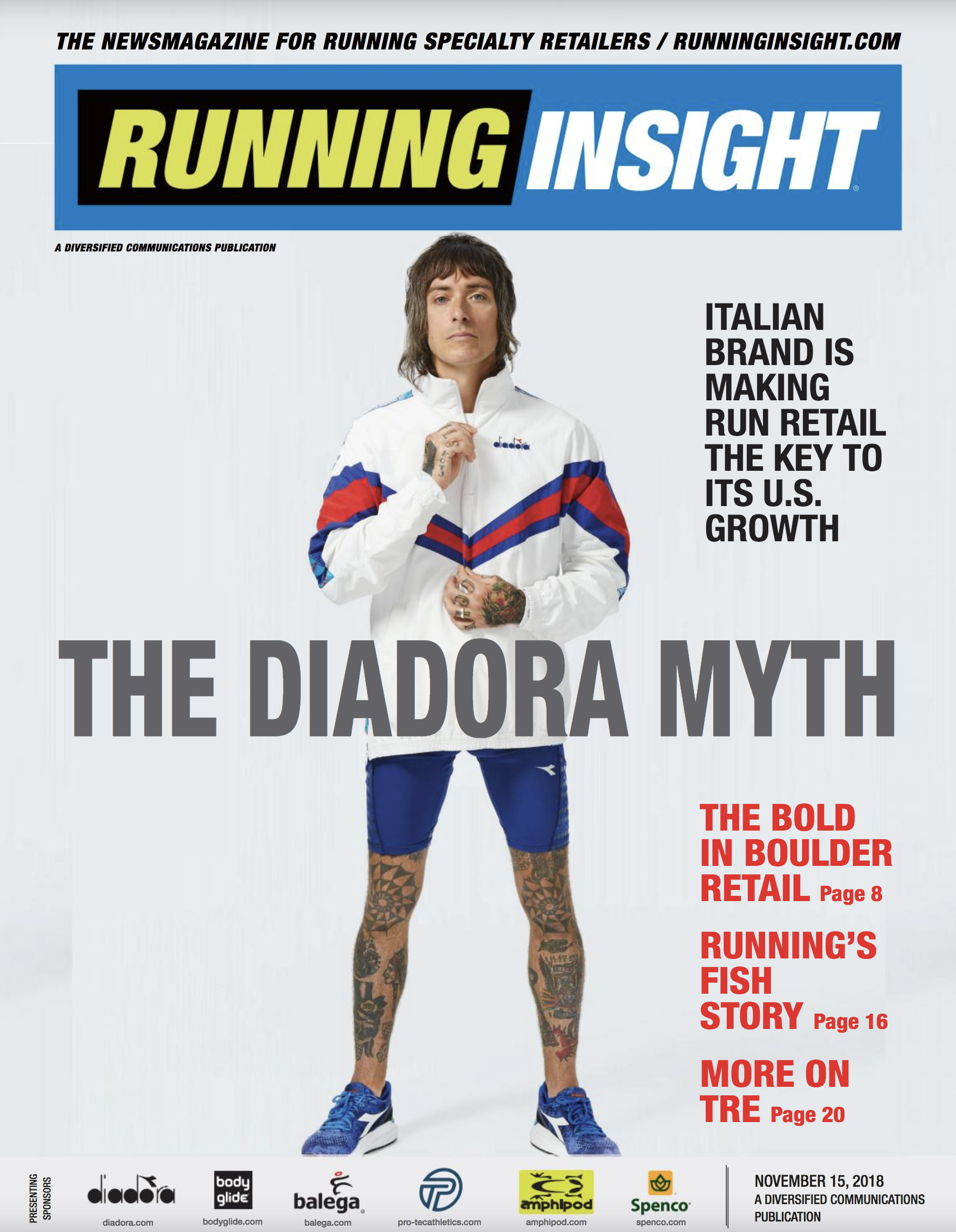 Running Insight Magazine Diadora